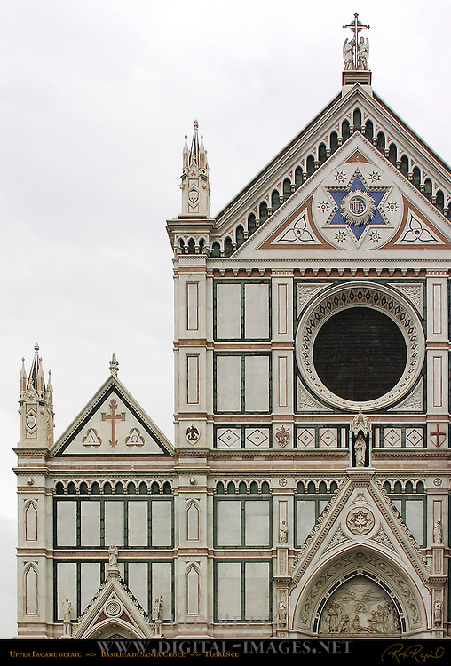 Upper Facade detail Santa Croce Florence