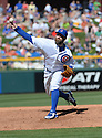 Chicago Cubs Jason Motte (30) during a spring training game against the San Diego Padres on March 9, 2015 at Sloan Park in Mesa, AZ. The Padres beat the Cubs 6-3.