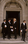 Eton 6th form boys in traditional school tail coats. School Uniform.