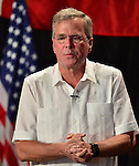 SWEETWATER, FL - MAY 18: Former Florida Governor and potential Republican presidential candidate Jeb Bush speaks to supporters during a fundraising event at the Jorge Mas Canosa Youth Center on May 18, 2015 in Sweetwater, Florida. Mr. Bush is thought to be seeking to run for the Republican nomination but he has yet to formally announce his intentions.  ( Photo by Johnny Louis / jlnphotography.com )