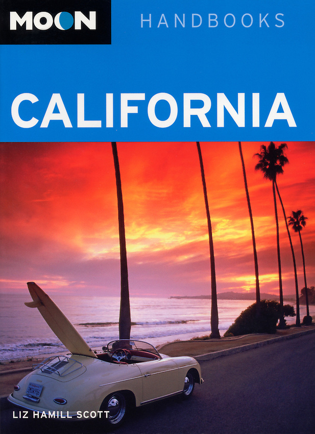 Moon travel guide cover-Montecito, California USA