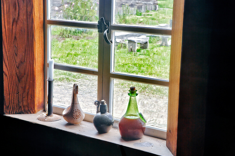 Window at Fort Ross State historic Park. California