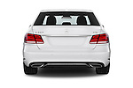 Straight rear view of a 2015 Mercedes Benz Classe E E220 4 Door Sedan 2WD Rear View  stock images