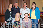 18th: Joan O'Shea, from Miltown who celebrated her 18th Birthday in the Grand Hotel Tralee by going for La Carte dinner with her family on Saturday evening. Front Joan and Mary O'Shea. Back l-r: Sinead Murphy, Kevin Lanigan, Willie O'Shea and Teresa O'Shea...................................... ....