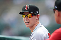 Indianapolis Indians Steven Brault (25) during a game against the Rochester Red Wings on May 26, 2016 at Frontier Field in Rochester, New York.  Indianapolis defeated Rochester 5-2.  (Mike Janes/Four Seam Images)