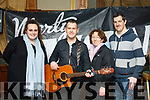 Marty Mone fans in attendance at his meet and greet in the Meadowlands Hotel on Saturday afternoon last. L to r,  Donna Stokes, Marty Mone, Patsy Murphy and Johnathan Stokes.