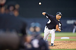 Masahiro Tanaka (Yankees),<br /> MARCH 12, 2015 - MLB :<br /> Masahiro Tanaka of the New York Yankees pitches during a spring training baseball game against the Atlanta Braves at George M. Steinbrenner Field in Tampa, Florida, United States. (Photo by Thomas Anderson/AFLO) (JAPANESE NEWSPAPER OUT)