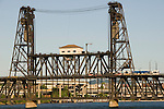 The Steel Bridge over the Willamette River, Portland, Oregon