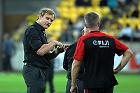 Crusaders head coach Scott Robertson during the Super Rugby match between the Hurricanes and Crusaders at Westpac Stadium in Wellington, New Zealand on Friday, 29 March 2019. Photo: Dave Lintott / lintottphoto.co.nz
