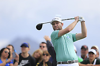 Brandon Grace (RSA) on the 3rd tee during the 3rd round of the Waste Management Phoenix Open, TPC Scottsdale, Scottsdale, Arisona, USA. 02/02/2019.<br /> Picture Fran Caffrey / Golffile.ie<br /> <br /> All photo usage must carry mandatory copyright credit (© Golffile | Fran Caffrey)