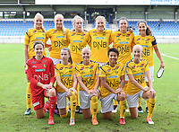 20190813 - DENDERLEEUW, BELGIUM : LSK's players with Ida Norstrom (12), Ingrid Moe Wolde (2) , Nora Marie Egenes (4) , Emilie Woldvik (14) , Mille Dalen (15) , Emilia Ruud (17) , Meryll Abrahamsen (21), Anja Sonstevold (22), Isabelle Bachor (23), Mia Authen (24) and Sophie Haug (25)  pictured  posing for the teampicture during the female soccer game between the Greek PAOK Thessaloniki Ladies FC and the Norwegian LSK Kvinner Fotballklubb Ladies , the third and final game for both teams in the Uefa Womens Champions League Qualifying round in group 8 , Tuesday 13 th August 2019 at the Van Roy Stadium in Denderleeuw  , Belgium  .  PHOTO SPORTPIX.BE for NTB | DAVID CATRY