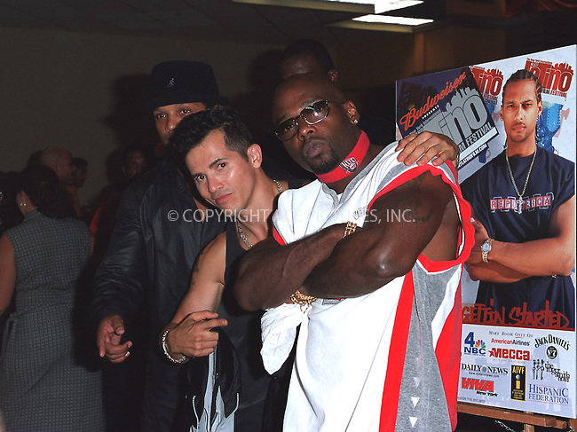 "(L to R) Director Franc Reyes, John Leguizamo, rappre Treach at the opening of the 3Rd Annual New York International Latino Film Festival and the premiere of ""Empire."" New York, July 31, 2002. Please byline: Alecsey Boldeskul/NY Photo Press.   ..*PAY-PER-USE*      ....NY Photo Press:  ..phone (646) 267-6913;   ..e-mail: info@nyphotopress.com"