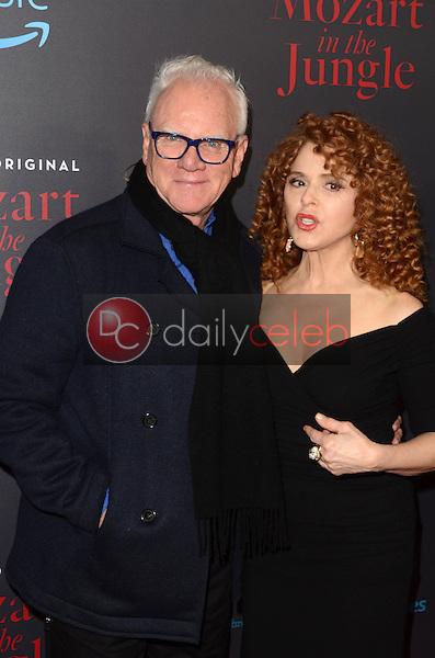 """Malcolm McDowell, Bernadette Peters<br /> at the """"Mozart In The Jungle"""" Special Screening and Concert, The Grove, Los Angeles, CA 12-01-16<br /> David Edwards/DailyCeleb.com 818-249-4998"""