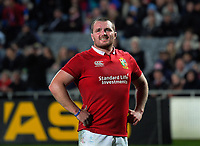 Lions captain Ken Owens watches a TMO replay during the 2017 DHL Lions Series rugby union match between the Blues and British & Irish Lions at Eden Park in Auckland, New Zealand on Wednesday, 7 June 2017. Photo: Dave Lintott / lintottphoto.co.nz
