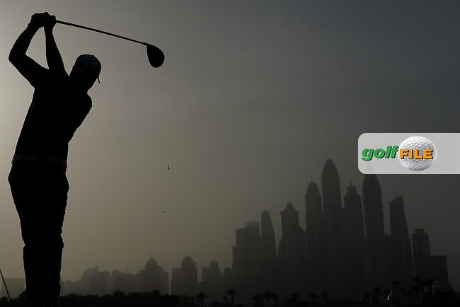 Jacques Kruyswijk (RSA) in action during the first round of the Omega Dubai Desert Classic, Emirates Golf Club, Dubai, UAE. 24/01/2019<br /> Picture: Golffile | Phil Inglis<br /> <br /> <br /> All photo usage must carry mandatory copyright credit (© Golffile | Phil Inglis)