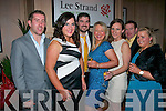 Looking the best at the annual Lee Strand social last Saturday night in the Ballygarry house hotel, Tralee were l-r: Eamonn O'Mahony, Deirdre Moloney, Ger O'Donoghue, Juliette Fleming, Margaret Delee, Adrian Fleming and Maria Lenihan.