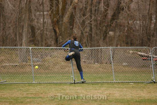 Trent Nelson  |  The Salt Lake Tribune.Springville - Springville vs. Bingham high school softball Thursday, March 18, 2010. Nikki Brailsford hits the game-winning home run in the 7th inning. Whitney Littledike