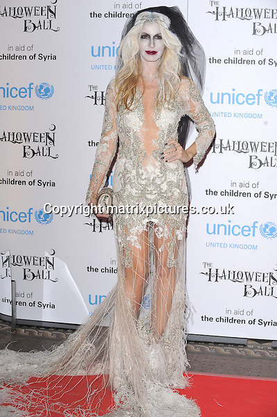 NON EXCLUSIVE PICTURE: PAUL TREADWAY / MATRIXPICTURES.CO.UK<br /> PLEASE CREDIT ALL USES<br /> <br /> WORLD RIGHTS<br /> <br /> American fashion designer Melissa Odabash attending the UNICEF Halloween Ball at London's One Mayfair.<br /> <br /> OCTOBER 31st 2013<br /> <br /> REF: PTY 137081