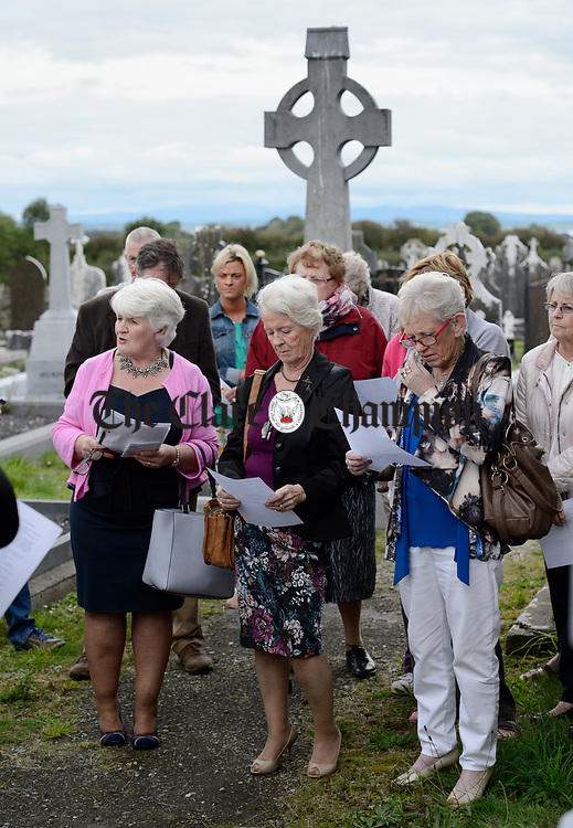 Geraldine Halpin, Terri Dewhurst, Sydney and Marian Commane at a commemorative service in Kilchreest cemetery to mark the one hundredth anniversary of the death of local man John Jacko Browne who was killed in the First World War and is buried in Saulty, France. Photograph by John Kelly.