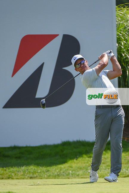 Paul Casey (ENG) watches his tee shot on 16 during 2nd round of the World Golf Championships - Bridgestone Invitational, at the Firestone Country Club, Akron, Ohio. 8/3/2018.<br /> Picture: Golffile | Ken Murray<br /> <br /> <br /> All photo usage must carry mandatory copyright credit (© Golffile | Ken Murray)