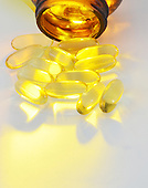 Vitamin E Fish Oil stock photo
