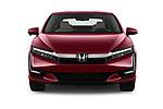 Car photography straight front view of a 2018 Honda Clarity Plug-In Hybrid 4 Door Sedan
