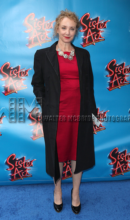 J. Smith Cameron.attending the Broadway Opening Night Performance of 'Sister Act' at the Broadway Theatre n New York City.