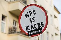 2014/04/07 Berlin | Bürgerversammlung zu Flüchtlingsheim & NPD-Protest