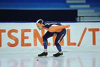 SCHAATSEN: HEERENVEEN: 19-11-2016, IJsstadion Thialf, KNSB trainingswedstrijd, Aron Romeijn, ©foto Martin de Jong