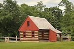 Small log barn at Spring Mills, Warrensville Road.