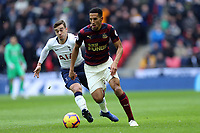 Isaac Hayden of Newcastle United and Harry Winks of Tottenham Hotspur during Tottenham Hotspur vs Newcastle United, Premier League Football at Wembley Stadium on 2nd February 2019