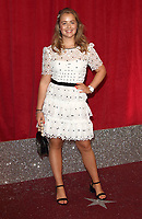 Isobel Steele at The British Soap Awards 2019 arrivals. The Lowry, Media City, Salford, Manchester, UK on June 1st 2019<br /> CAP/ROS<br /> ©ROS/Capital Pictures