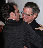 "WEST HOLLYWOOD, CA - NOVEMBER 13: Jason Patric, Matt Damon at the ""Stand Up For Gus"" Benefit held at Bootsy Bellows on November 13, 2013 in West Hollywood, California. (Photo by Xavier Collin/Celebrity Monitor)"