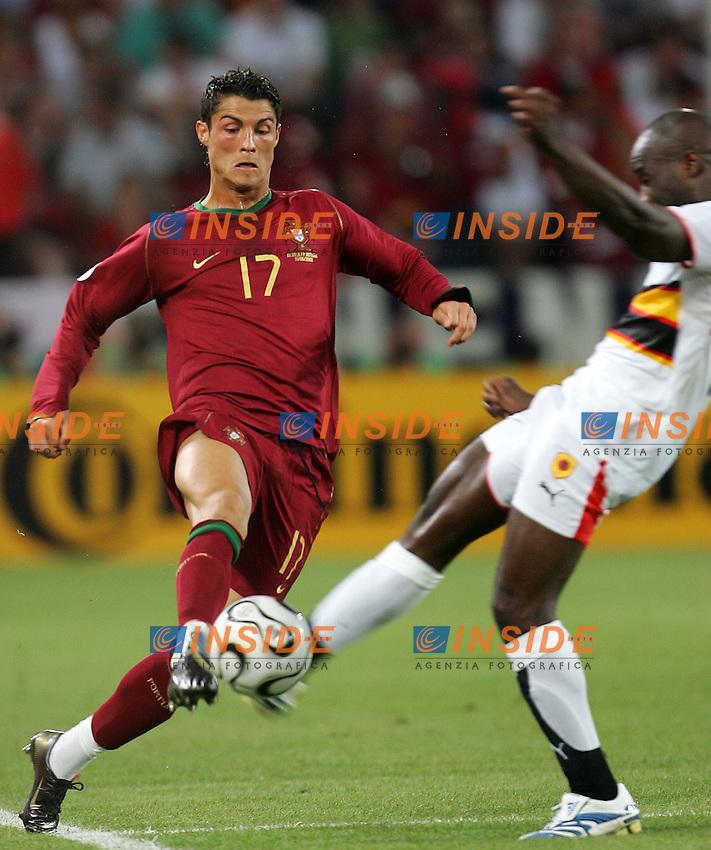 Koln 11/6/2006 World Cup 2006.Angola Portugal - Angola Portogallo 0-1.Photo Andrea Staccioli Insidefoto.Cristiano Ronaldo Portogallo Kali Angola