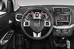 Car pictures of steering wheel view of a 2015 Dodge Journey American Value Package 5 Door SUV Steering Wheel