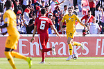 Tom Rogic of Australia (R) in action during the AFC Asian Cup UAE 2019 Group B match between Palestine (PLE) and Australia (AUS) at Rashid Stadium on 11 January 2019 in Dubai, United Arab Emirates. Photo by Marcio Rodrigo Machado / Power Sport Images