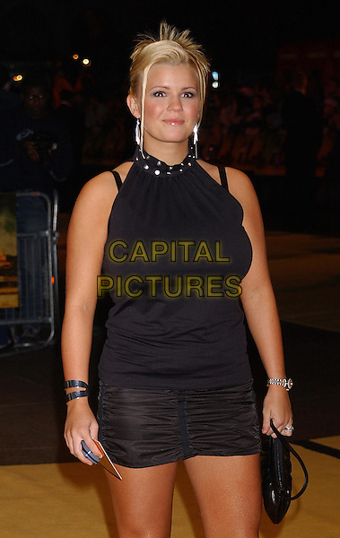 KERRY McFADDEN                        .Bad Boys Premiere.halterneck top, miniskirt, half length, half-length.30th September 2003.www.capitalpictures.com.sales@capitalpictures.com.Supplied By Capital Pictures
