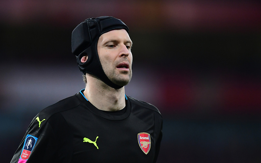 Arsenal's Petr Cech<br /> <br /> Photographer Chris Vaughan/CameraSport<br /> <br /> The Emirates FA Cup Quarter-Final - Arsenal v Lincoln City - Saturday 11th March 2017 - The Emirates - London<br />  <br /> World Copyright &copy; 2017 CameraSport. All rights reserved. 43 Linden Ave. Countesthorpe. Leicester. England. LE8 5PG - Tel: +44 (0) 116 277 4147 - admin@camerasport.com - www.camerasport.com