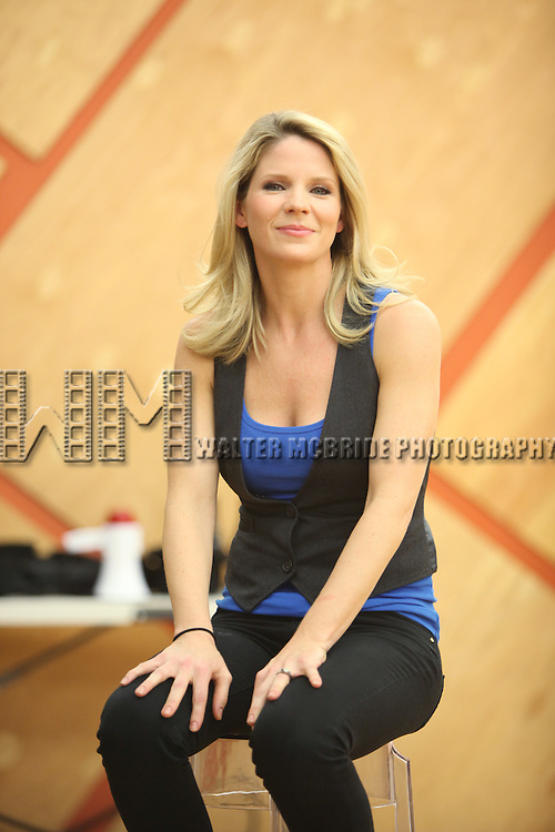 Kelli O'Hara.attending the 'Nice Work If You Can Get It' open press rehearsal at Gibney Dance Studios on March 14, 2012 in New York City.