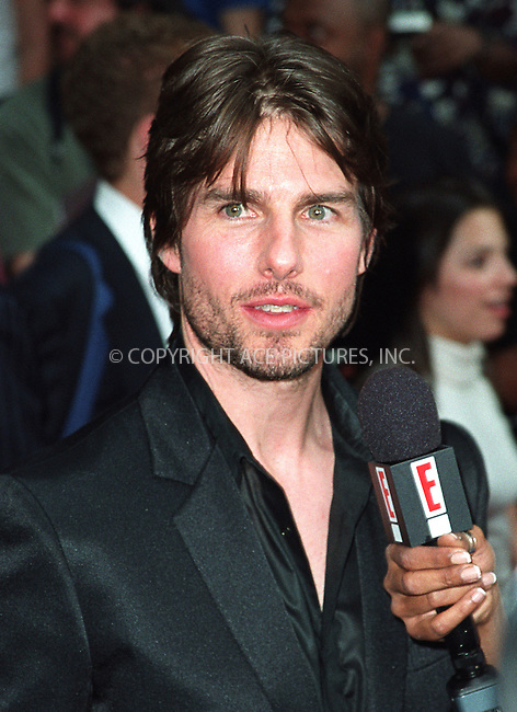 "Tom Cruise attends the world premiere of ""Minority Report"" in New York. June 17, 2002. Please byline: Alecsey Boldeskul/NY Photo Press.   ..*PAY-PER-USE*      ....NY Photo Press:  ..phone (646) 267-6913;   ..e-mail: info@nyphotopress.com"