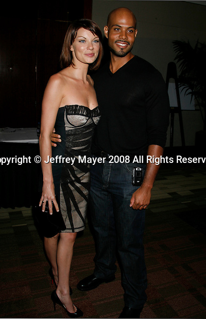 Actors Nicole Hiltz and Todd Williams arrive at the NBC Universal 2008 Press Tour All-Star Party at The Beverly Hilton Hotel on July 20, 2008 in Beverly Hills, California.