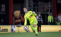 Goalkeeer Asmir Begovic of AFC Bournemouth during the Premier League match between Bournemouth and Manchester United at the Goldsands Stadium, Bournemouth, England on 18 April 2018. Photo by Andy Rowland.