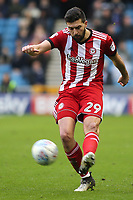 Yoann Barbet of Brentford in action during Millwall vs Brentford, Sky Bet EFL Championship Football at The Den on 10th March 2018