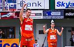 S&ouml;dert&auml;lje 2014-01-03 Basket Basketligan S&ouml;dert&auml;lje Kings - Bor&aring;s Basket :  <br /> Bor&aring;s Mike Palm h&ouml;jer armen i en segergest efter slutsignalen<br /> (Foto: Kenta J&ouml;nsson) Nyckelord:  jubel gl&auml;dje lycka glad happy