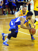Dion Prewster in action during the national basketball league match between Wellington Saints and Mountain Airs at TSB Bank Arena, Wellington, New Zealand on Friday, 6 May 2016. Photo: Dave Lintott / lintottphoto.co.nz