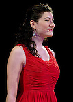 Soprano Valentina Fleer singing at the 2012 Pacific Symphony Gala at the Hyatt Regency Hotel in Irvine.