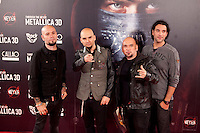 Members of Sober attend the premiere of 'Metallica: Through The Never' at Callao cinema on October 9, 2013 in Madrid, Spain. (ALTERPHOTOS/Victor Blanco)