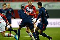 EMMEN - Voetbal, FC Emmen - Jong Ajax, Jens Vesting, Jupiler League, seizoen 2017-2018, 15-12-2017,  FC Emmen speler Michiel Hemmen met Jong Ajax speler Danilho Doekhi