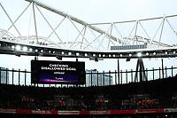 7th March 2020; Emirates Stadium, London, England; English Premier League Football, Arsenal versus West Ham United; Alexandre Lacazette of Arsenal goal goes to VAR