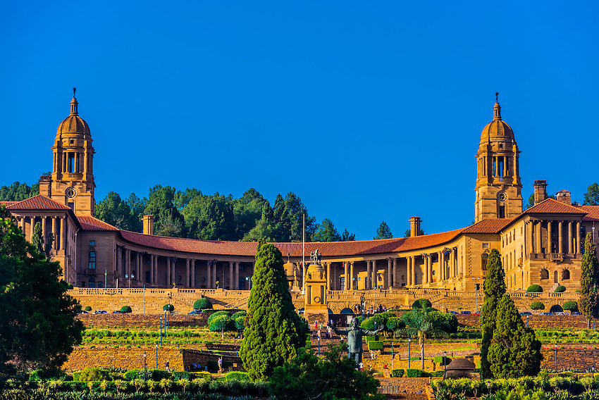 The Union Buildings form the official seat of the South African government and also house the offices of the president of South Africa. Pretoria (Tshwane), South Africa